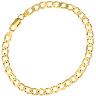 9ct Yellow Gold 8.5g Curb Bracelet, 22cm/8.5