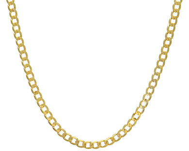 9ct Yellow Gold 34.5g Curb Necklace, 66cm/26
