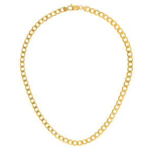 "9ct Yellow Gold 37g Curb Necklace, 71cm/28"" Length, 6.6mm Width"
