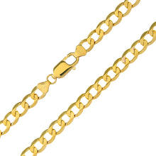 "Load image into Gallery viewer, 9ct Yellow Gold 39.8g Curb Necklace, 76cm/30"" Length, 6.6mm Width"