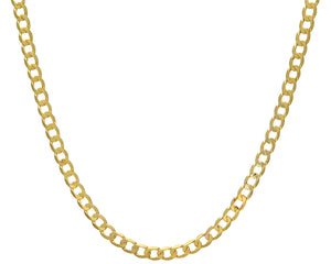"9ct Yellow Gold 39.8g Curb Necklace, 76cm/30"" Length, 6.6mm Width"