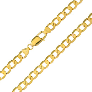 "9ct Yellow Gold 11.2g Curb Bracelet, 22cm/8.5"" Length, 6.6mm Width"