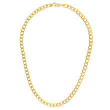 "Load image into Gallery viewer, 9ct Yellow Gold 28g Curb Necklace, 51cm/20"" Length, 7.3mm Width"