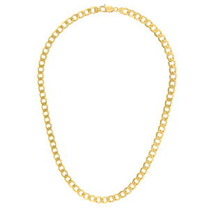 "9ct Yellow Gold 28g Curb Necklace, 51cm/20"" Length, 7.3mm Width"