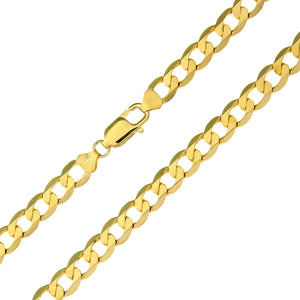 "9ct Yellow Gold 39.3g Curb Necklace, 71cm/28"" Length, 7.3mm Width"