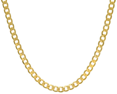 9ct Yellow Gold 39.3g Curb Necklace, 71cm/28
