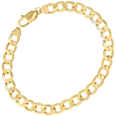 9ct Yellow Gold 11.9g Curb Bracelet, 22cm/8.5