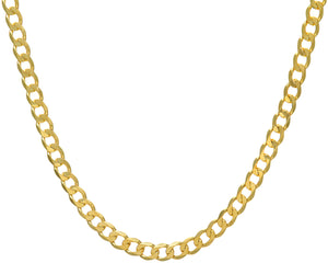 "9ct Yellow Gold 40.2g Curb Necklace, 56cm/22"" Length, 7.8mm Width"