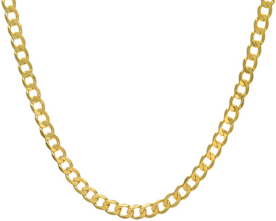 9ct Yellow Gold 43.8g Curb Necklace, 61cm/24