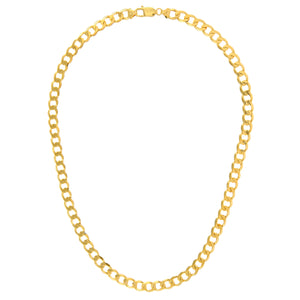 "9ct Yellow Gold 47.5g Curb Necklace, 66cm/26"" Length, 7.8mm Width"