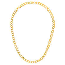 "Load image into Gallery viewer, 9ct Yellow Gold 54.8g Curb Necklace, 76cm/30"" Length, 7.8mm Width"