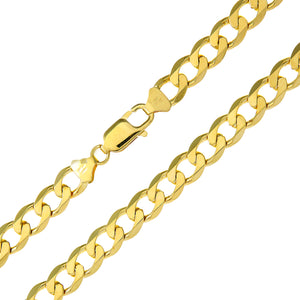 "9ct Yellow Gold 54.8g Curb Necklace, 76cm/30"" Length, 7.8mm Width"