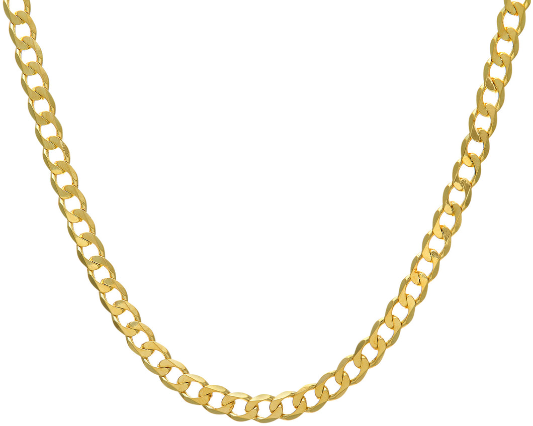 9ct Yellow Gold 54.8g Curb Necklace, 76cm/30