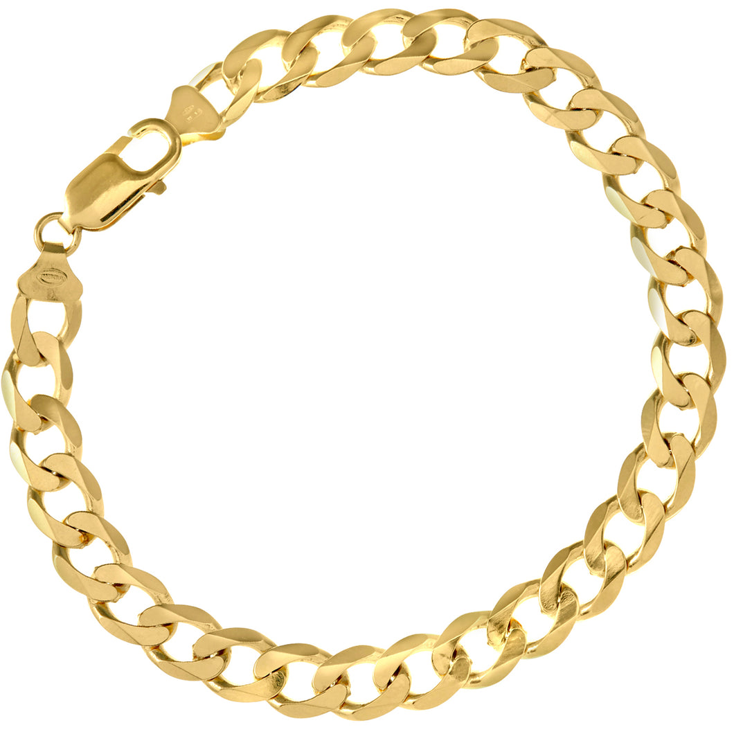 9ct Yellow Gold 15.5g Curb Bracelet, 22cm/8.5