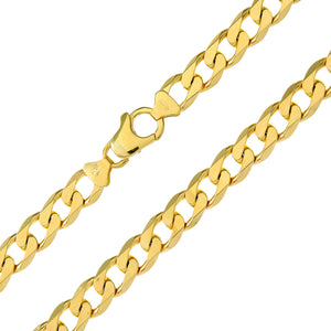 "9ct Yellow Gold 46.2g Curb Necklace, 51cm/20"" Length, 8.3mm Width"