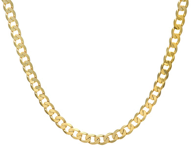 9ct Yellow Gold 50.8g Curb Necklace, 56cm/22
