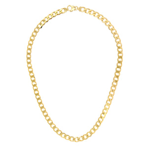 "9ct Yellow Gold 60g Curb Necklace, 66cm/26"" Length, 8.3mm Width"