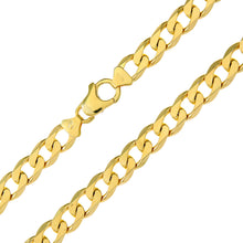 "Load image into Gallery viewer, 9ct Yellow Gold 19.6g Curb Bracelet, 22cm/8.5"" Length, 8.3mm Width"