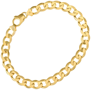 9ct Yellow Gold 19.6g Curb Bracelet, 22cm/8.5