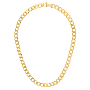 "9ct Yellow Gold 66.2g Curb Necklace, 51cm/20"" Length, 10mm Width"