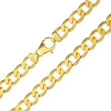 "Load image into Gallery viewer, 9ct Yellow Gold 28.1g Curb Bracelet, 22cm/8.5"" Length, 10mm Width"
