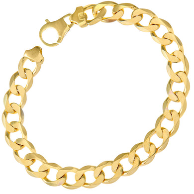 9ct Yellow Gold 28.1g Curb Bracelet, 22cm/8.5