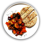 Ratatouille with Pitta Bread