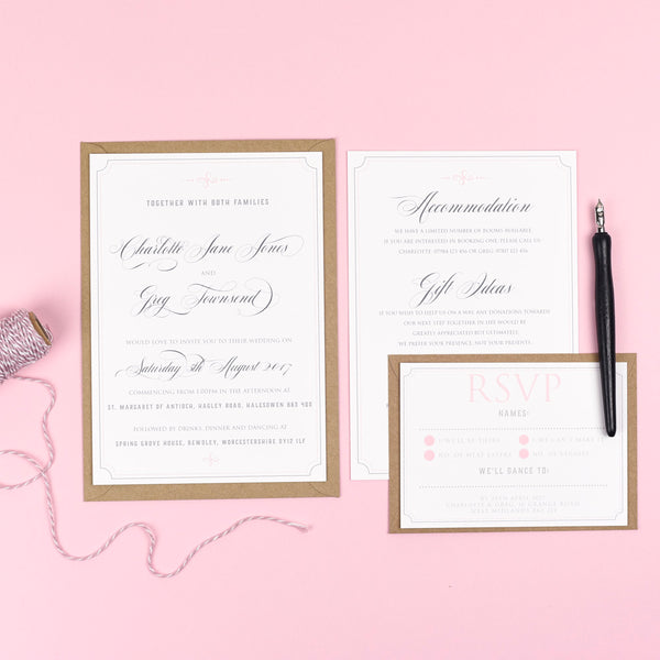 Erin - Regal Calligraphy Wedding Stationery