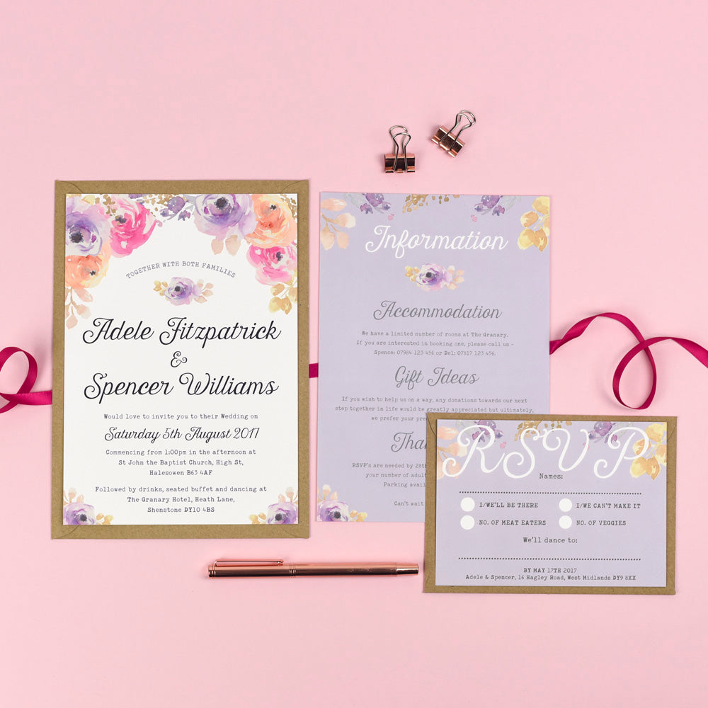 Wedding Invitation Collection: Viola