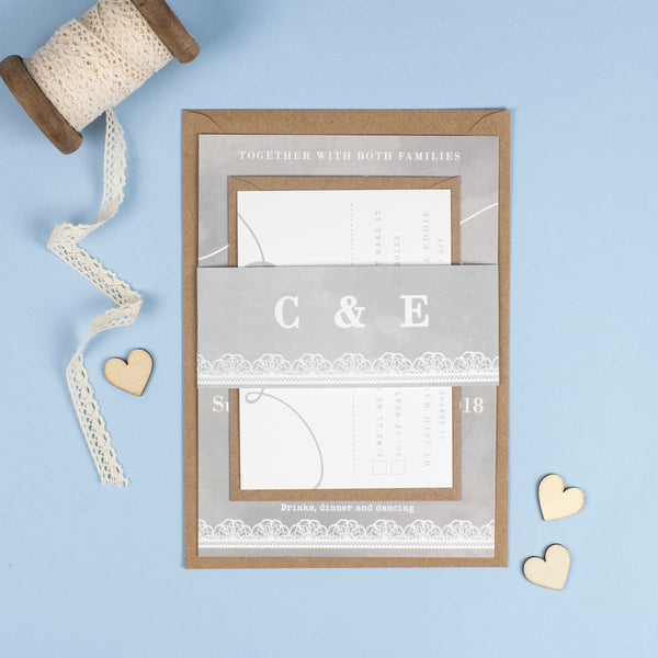 Molly, our Vintage Lace and Watercolour Wedding Stationery
