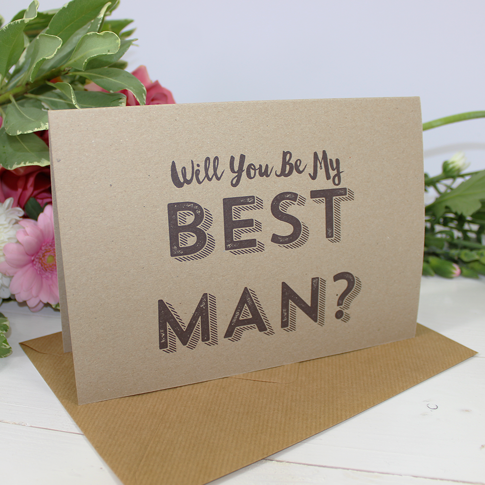 Will you be my Best Man / Usher / Page Boy? Card
