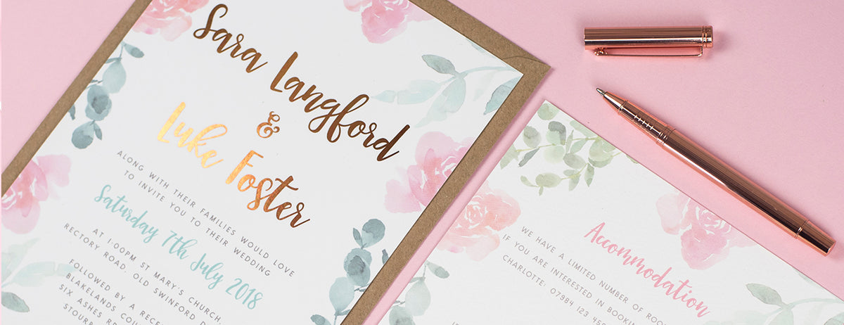 Foil Wedding Invitations UK