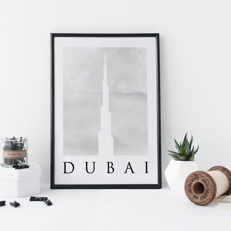 Travel Poster - DUBAI - Watercolour Prints