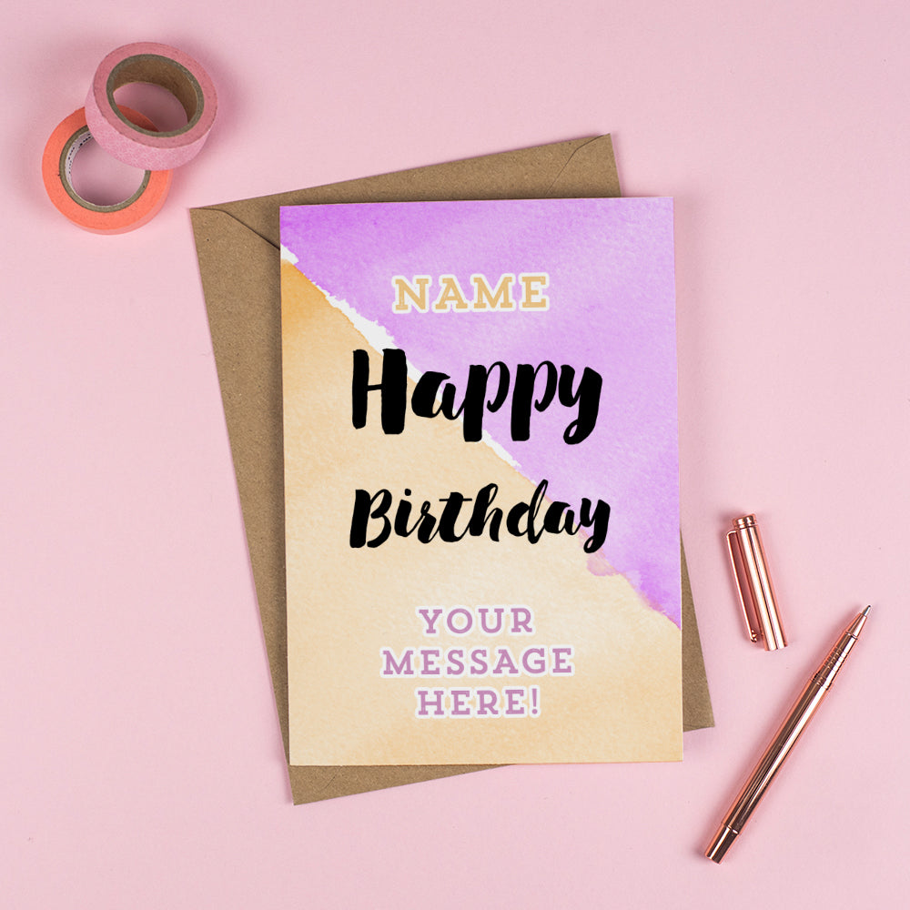 Happy Birthday Create Your Own Message