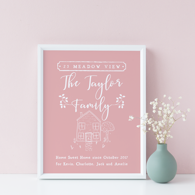 New Home Personalised Person/ Couple/ Family Print