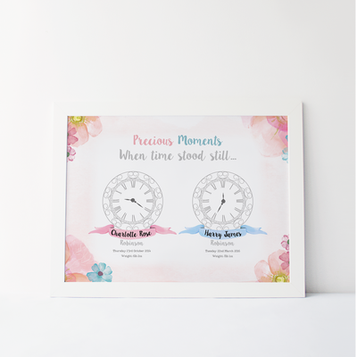 'Precious Moments When Time Stood Still' Clock Print