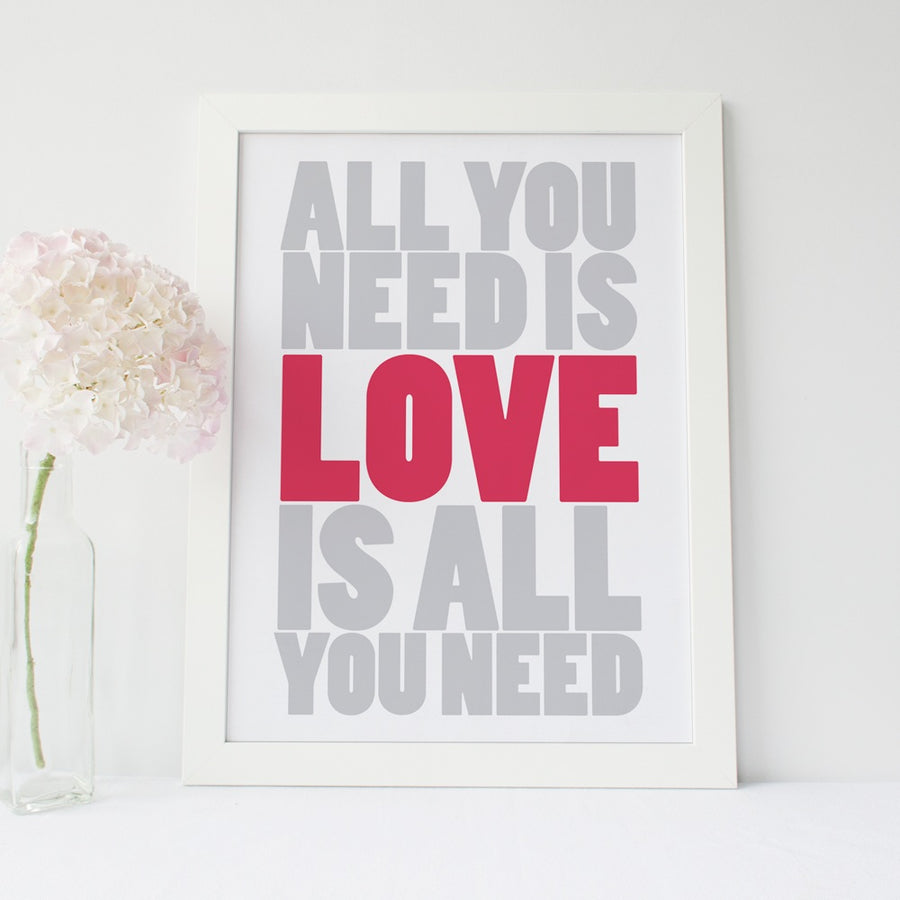 "Inspirational Poster - ""All You Need is Love..."""