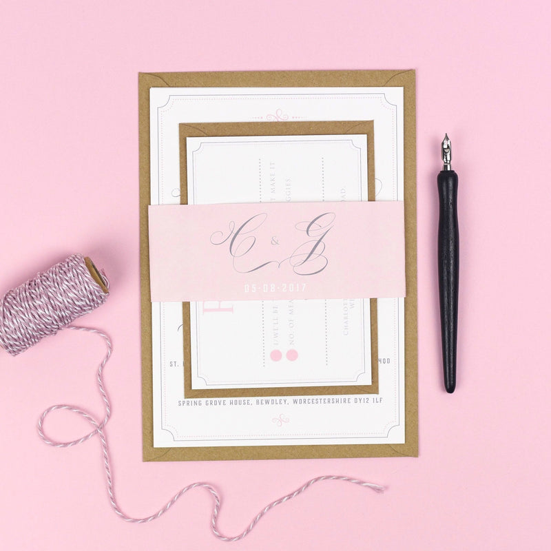 Erin Delicate Frame Wedding Invitations