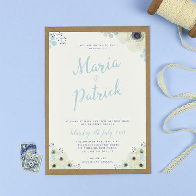 Maria Anemone Flowers Wedding Invitations
