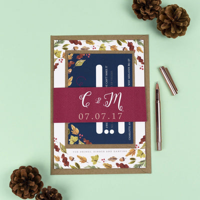 Octavia Autumnal Wedding Invitations