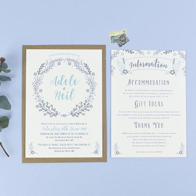 Willow Rustic Wreath Wedding Invitations