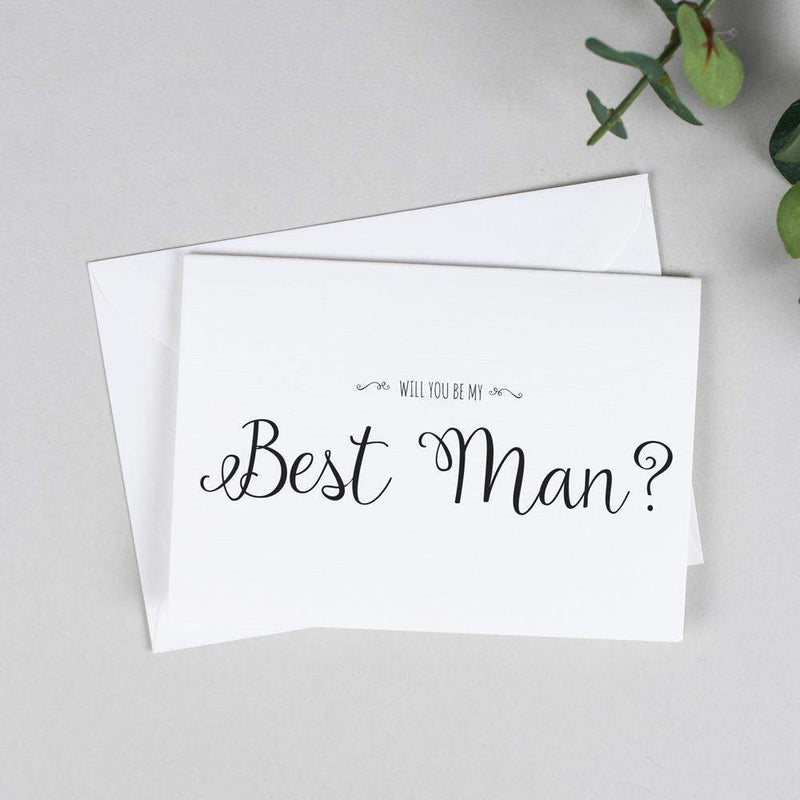 Will you be my Best Man? Card Rustic