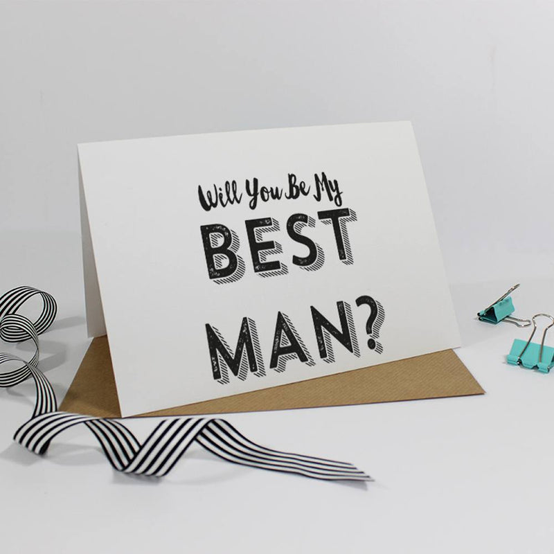Will you be my Best Man? Retro Card