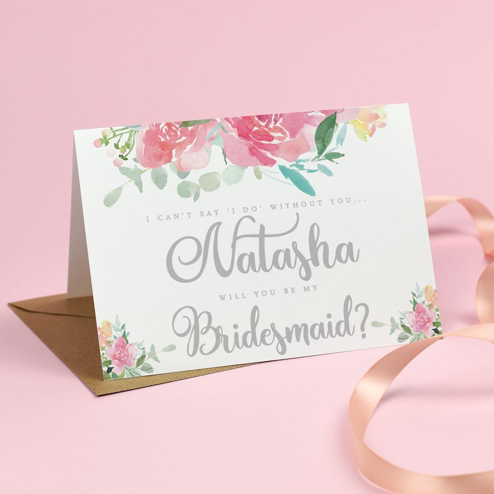 Cards - Will You Be My Bridesmaid? Card - Blossom Florals