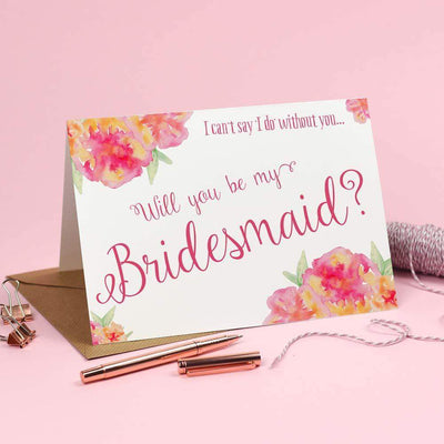 Will you be my Bridesmaid? Card 'Christine'