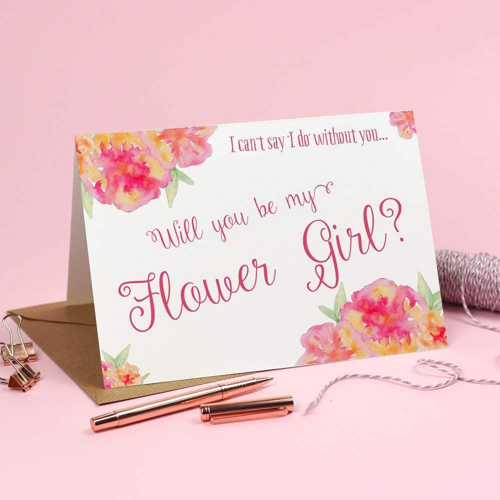 Cards - Will You Be My Flower Girl? Card 'Christine'