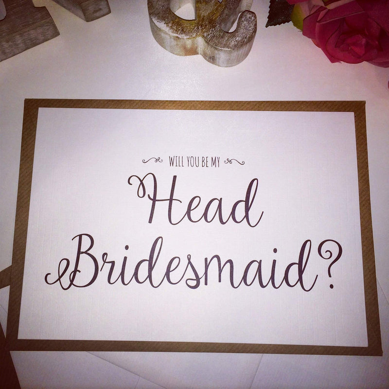 Will you be my Head Bridesmaid? Card