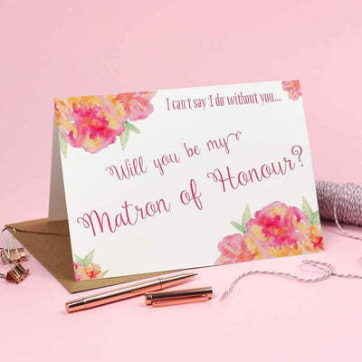 Will you be my Matron of Honour? Card 'Christine'