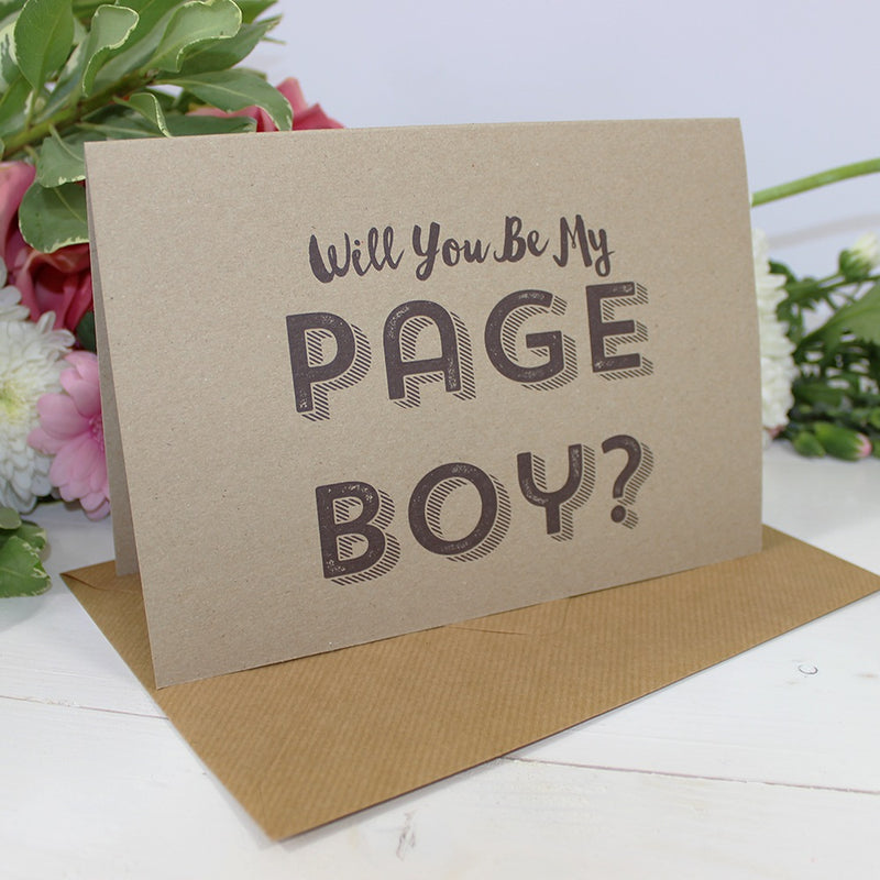 Will you be my Page Boy? Card - Retro