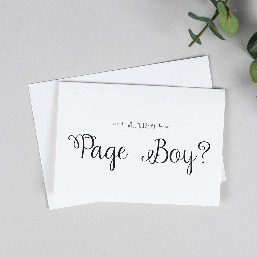 Will you be my Page Boy? Card Rustic